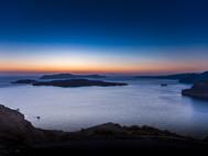 Abendstimmung über der Kaldera von Santorin (c) Tobias Schorr