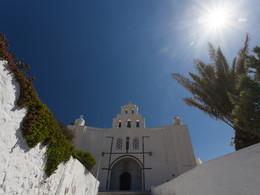 Profitis Ilias Kirche, Pyrgos/Santorini (c) Tobias Schorr, April 2017