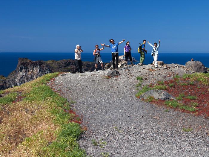 Die Reisegruppe auf der Insel Nea Kameni am 26.4.2017 (c) Tobias Schorr
