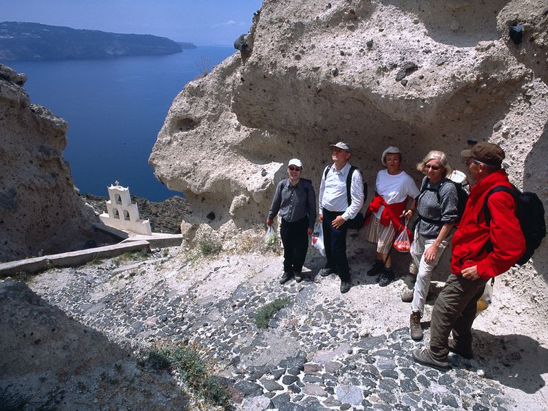 Mit einer Gruppe an der Plaka-Bucht. (c) Tobias Schorr 2006