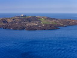 Die jüngste Insel von Griechenland: Der Vulkan Nea Kameni im Santorin-Archipel.
