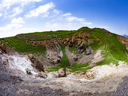 Der zuletzt 1940 ausgebrochene Georgios-Krater auf Nea Kameni/Santorini.