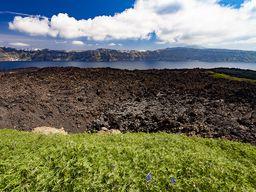 Stelle des letzten Vulkanausbruchs auf Nea Kameni von 1950.