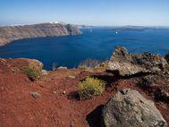 Herrlicher Blick in den vulkanischen Kessel von Santorin (c) Tobias Schorr