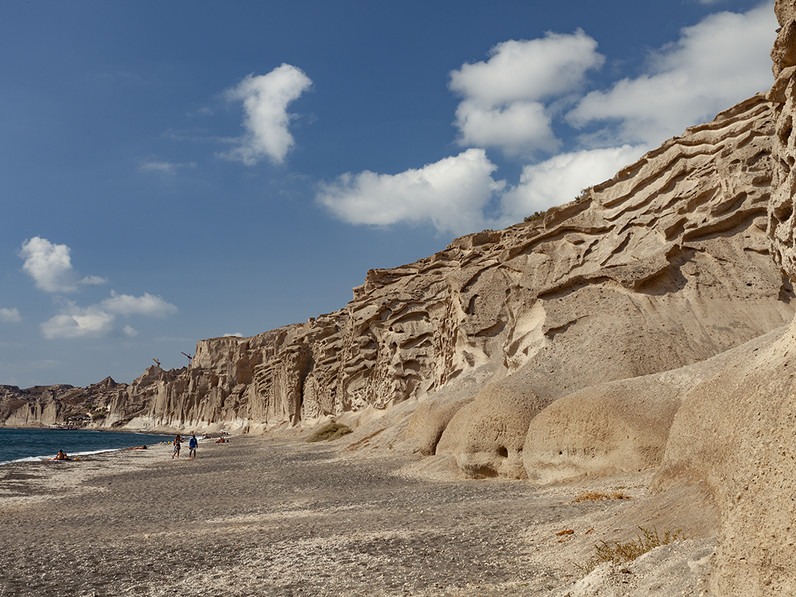 Der berühmte Vlychada-Strand auf Santorin. (c) Tobias Schorr