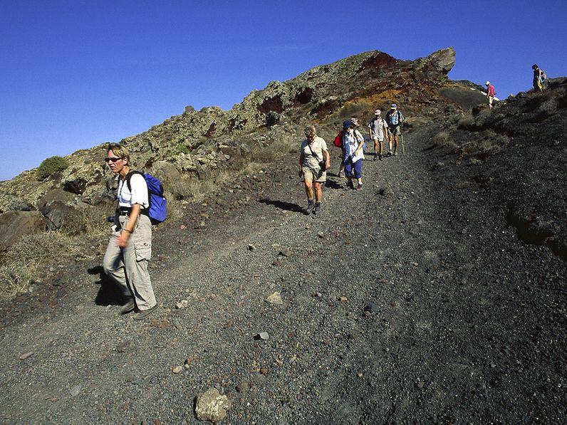 Abstieg nach Oía. (c) Tobias Schorr 1997