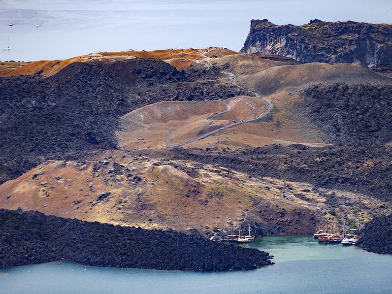 Link zu einem englischen Artikel über unsere Santorin-Reisen