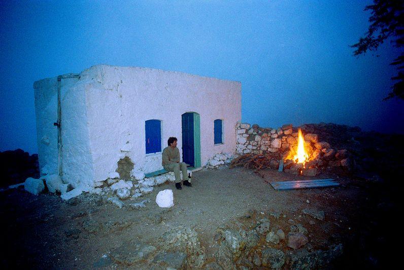 Lagerfeuer auf dem Gipfel von Nisyros (c) Tobias Schorr