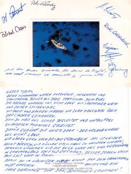 Eine Gästerückmeldung der TUI-Santorinreisen, die Tobias Schorr 1997 führte.