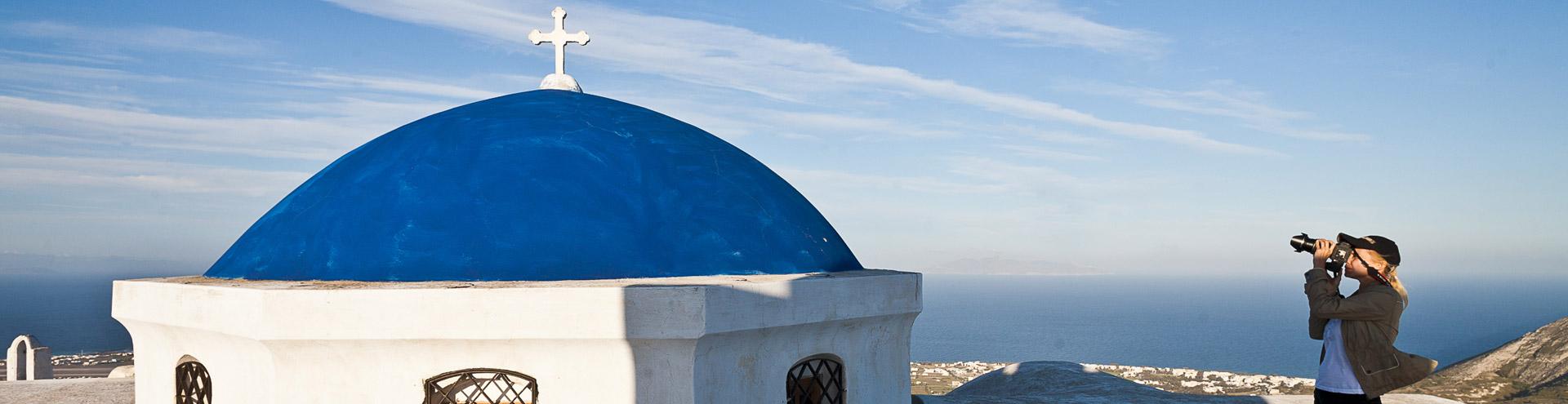 Kirche in Pyrgos und Svetlana